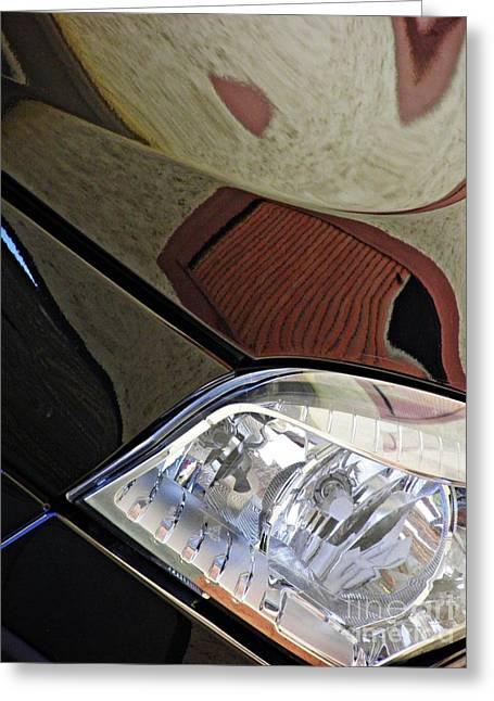 Auto Headlight 187 Greeting Card by Sarah Loft