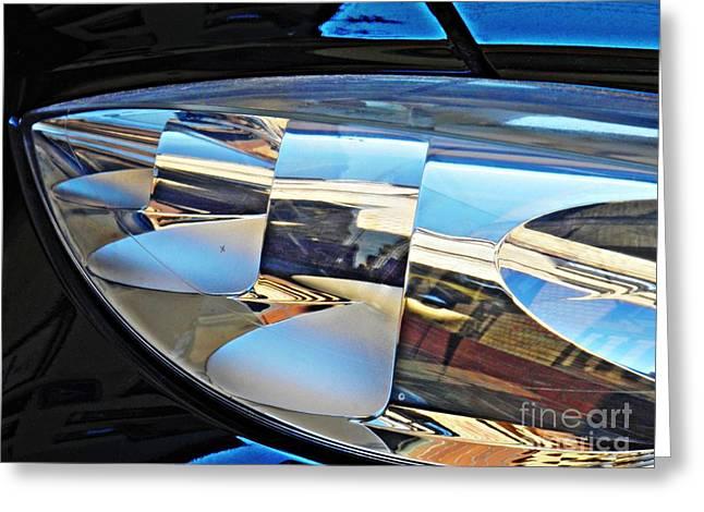 Auto Headlight 193 Greeting Card by Sarah Loft