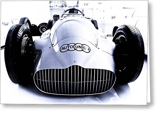 Auto Union Greeting Card by Adam Smith
