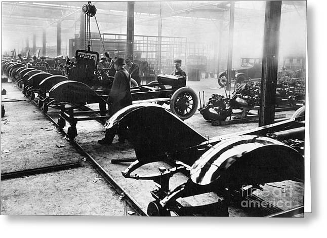 Automobile Manufacturing Greeting Card by Granger