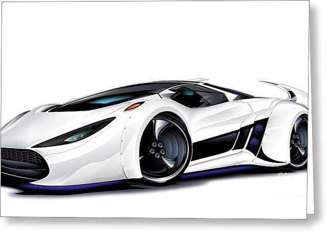 Greeting Card featuring the drawing Automobili Lamborghini Concept by Brian Gibbs