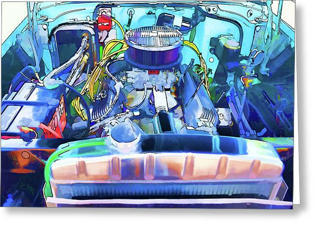 Automotive Engine Greeting Card by Lanjee Chee