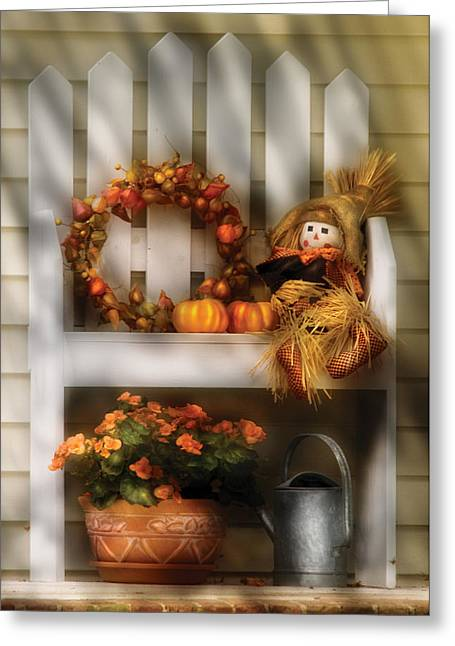 Autumn - Still Life - Symbols Of Autumn  Greeting Card by Mike Savad