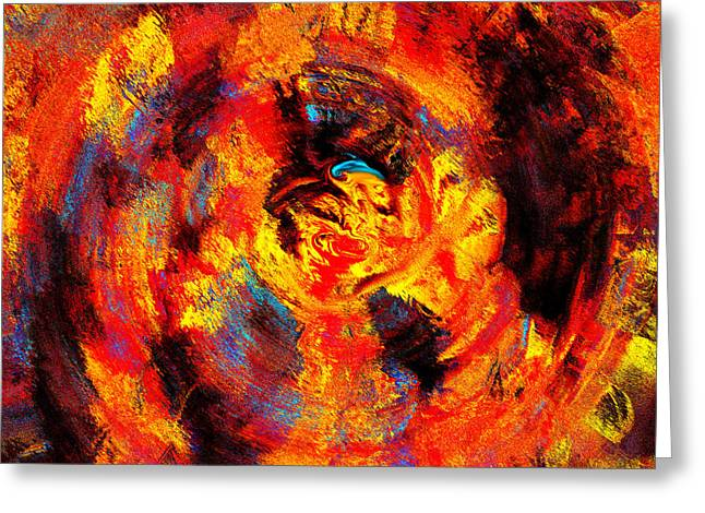 Autumn 10-2 Abstract  Greeting Card by Abstract Angel Artist Stephen K