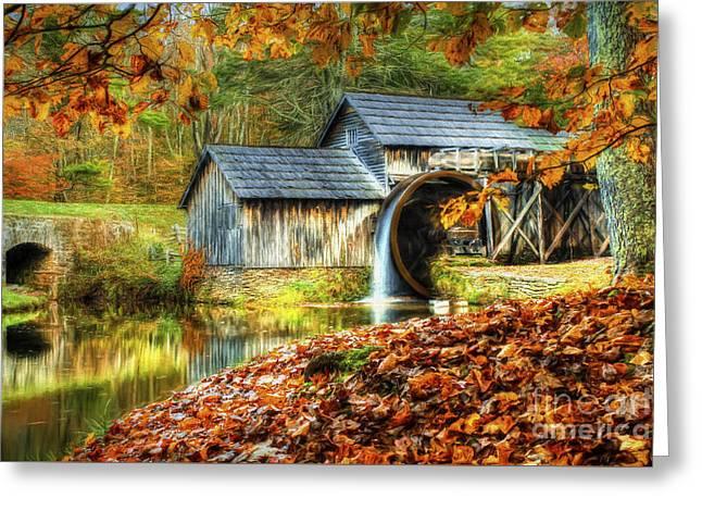 Autumn 2015 At Mabry Mill Greeting Card