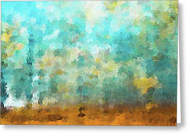 Autumn Abstract  Greeting Card by Art Spectrum