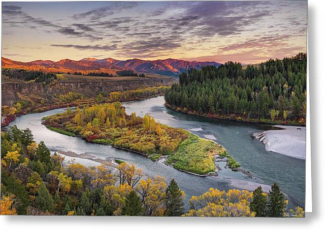 Autumn Along The Snake River Greeting Card