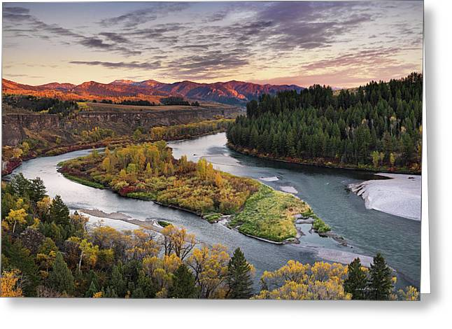 Autumn Along The Snake River Greeting Card by Leland D Howard
