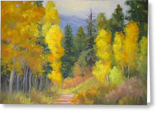 Autumn Ambience Greeting Card by Bunny Oliver