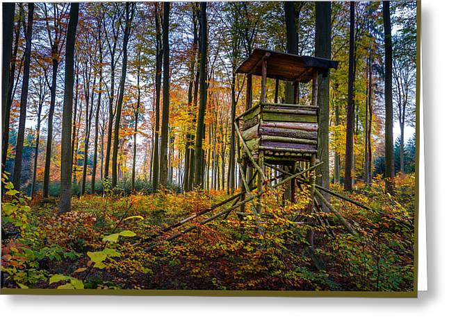 Autumn And Hunting Tower Greeting Card by Mah FineArt