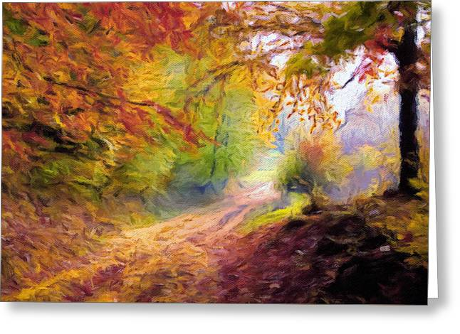 Autumn And The Morning Mist Greeting Card by Georgiana Romanovna