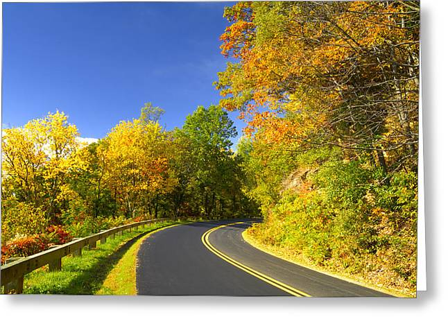 Autumn Appalachian Drive Greeting Card by Darrell Young