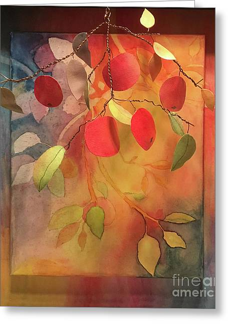 Autumn Apples 3d Greeting Card