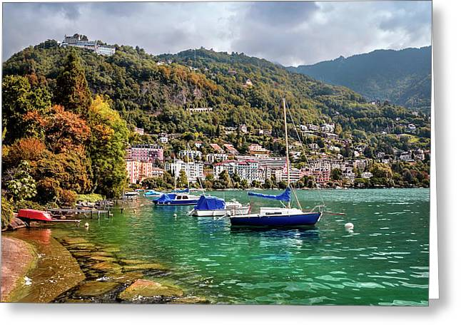 Autumn Approaches In Montreux Switzerland  Greeting Card