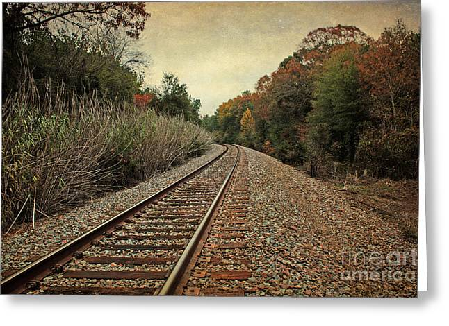 Autumn Around The Bend Greeting Card by Lisa Holmgreen