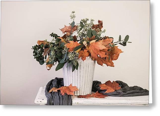 Autumn Arrangement Greeting Card by Kim Hojnacki