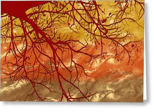 Greeting Card featuring the digital art Autumn Art by Milena Ilieva