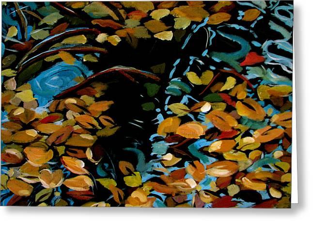 Autumn Greeting Card by Art Nomad Sandra  Hansen