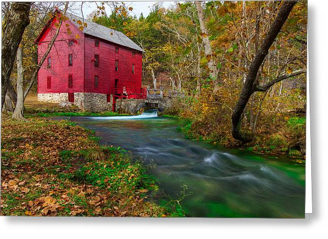 Autumn At Alley Spring Greeting Card
