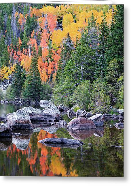 Greeting Card featuring the photograph Autumn At Bear Lake by David Chandler