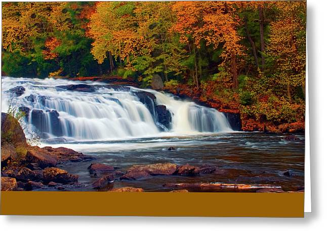 Autumn At Buttermilk Falls Greeting Card by Tony Beaver