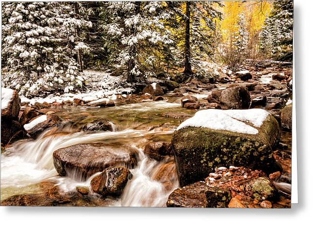 Autumn At Gore Creek 3 - Vail Colorado Greeting Card by Brian Harig