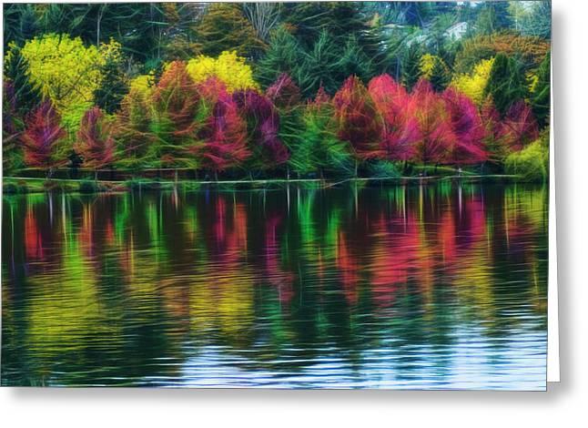 Autumn At Green Lake Seattle Greeting Card