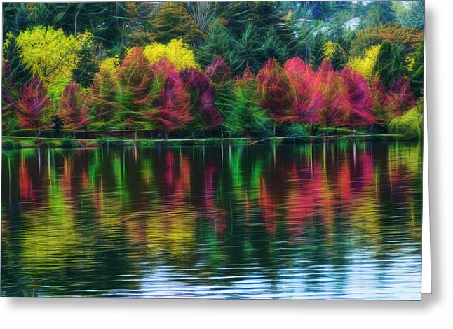 Autumn At Green Lake Seattle Greeting Card