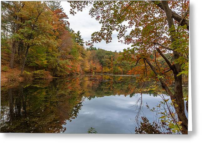 Autumn At Hillside Pond Greeting Card