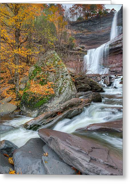 Autumn At Kaaterskill Falls Greeting Card by Bill Wakeley