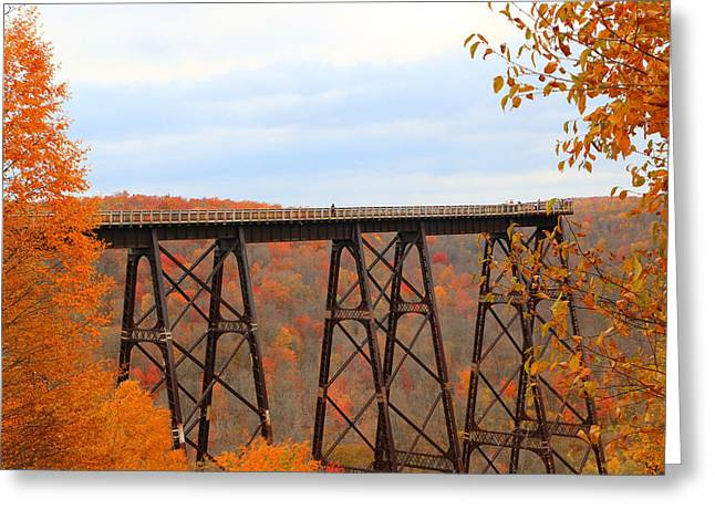 Autumn At Kinzua Bridge Greeting Card