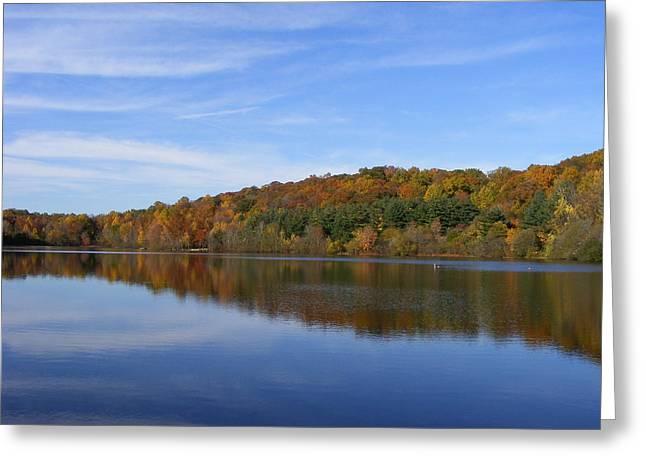 Autumn At Lake Mohegan Greeting Card by Margie Avellino