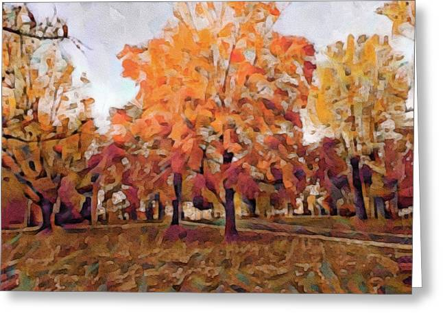 Autumn At Lincoln University Greeting Card by Susan Maxwell Schmidt