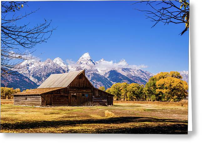 Autumn At Moulton Barn Greeting Card