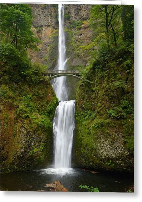Autumn At Multnomah Falls Greeting Card