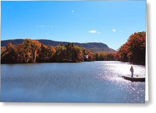Greeting Card featuring the photograph Autumn At Nashawannuck Pond by Sven Kielhorn
