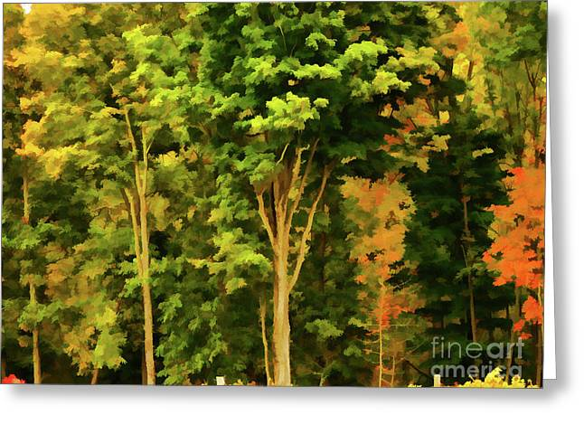 Autumn At Olana 1 Greeting Card by Lanjee Chee