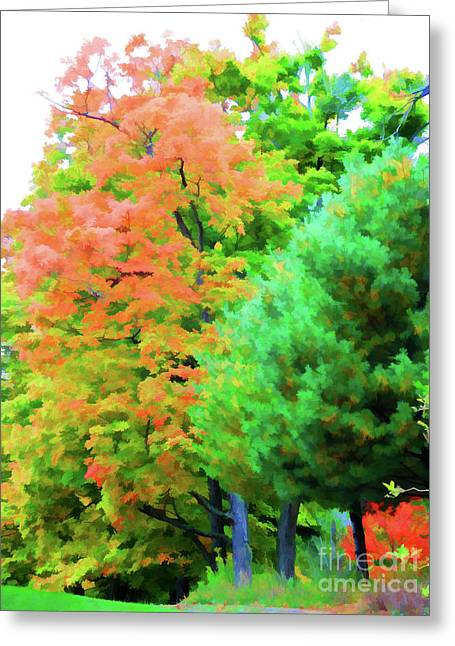 Autumn At Olana 3 Greeting Card by Lanjee Chee