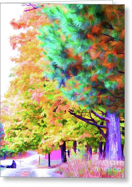 Autumn At Olana 4 Greeting Card by Lanjee Chee