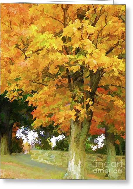 Autumn At Olana 5 Greeting Card by Lanjee Chee
