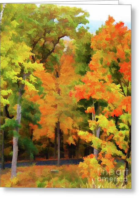 Autumn At Olana 7 Greeting Card by Lanjee Chee