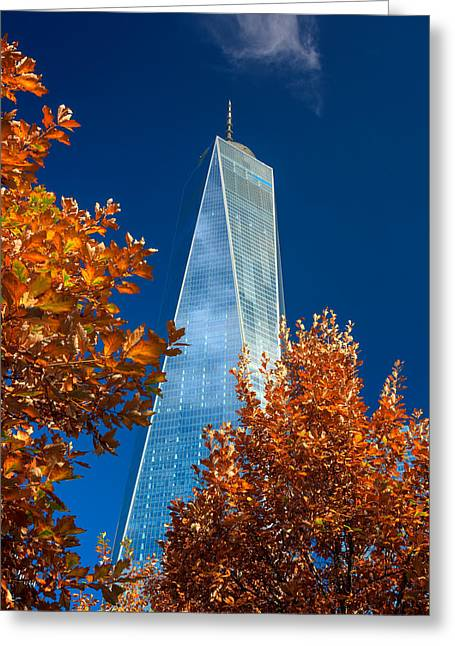 Autumn At One Wtc Greeting Card by Rick Berk