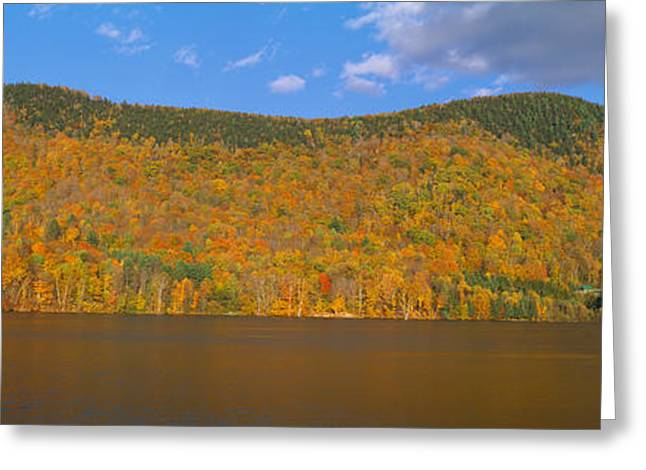 Autumn At Scenic Lake Near Woodstock Greeting Card by Panoramic Images