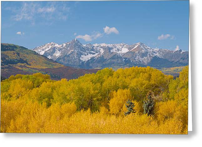 Autumn At Sneffels Mountain Range, San Greeting Card by Panoramic Images