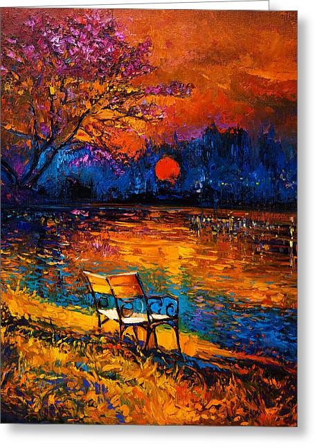 Autumn At Sunset By Ivailo Nikolov Greeting Card by Boyan Dimitrov