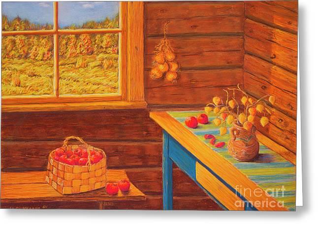 Autumn At The Cottage Greeting Card by Veikko Suikkanen