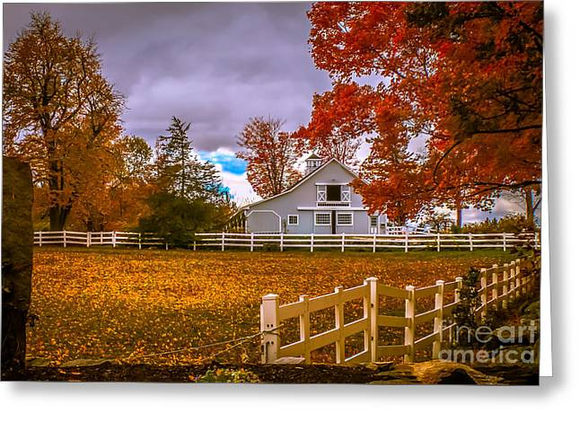 Autumn At The Farm Greeting Card