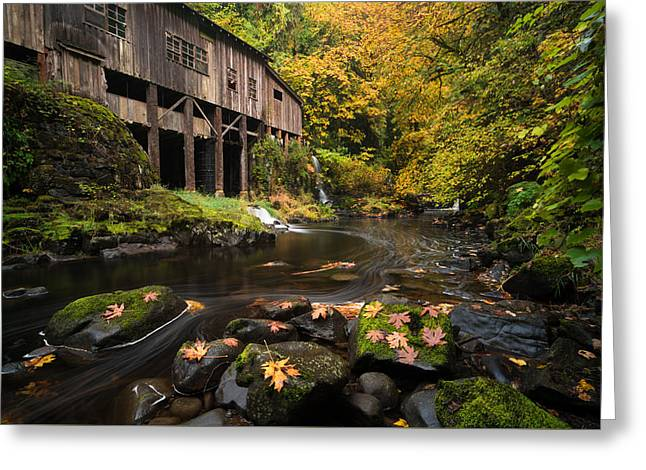 Autumn At The Grist Mill Greeting Card by Brian Bonham