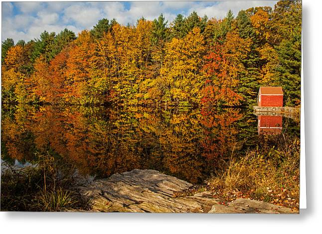Autumn At The Lake Greeting Card
