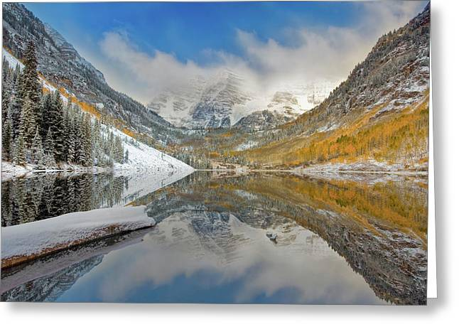 Autumn At The Maroon Bells 1 Greeting Card